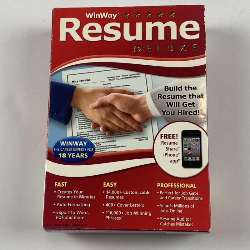 Nova Development US WinWay Resume Deluxe Software - Resume Building Program