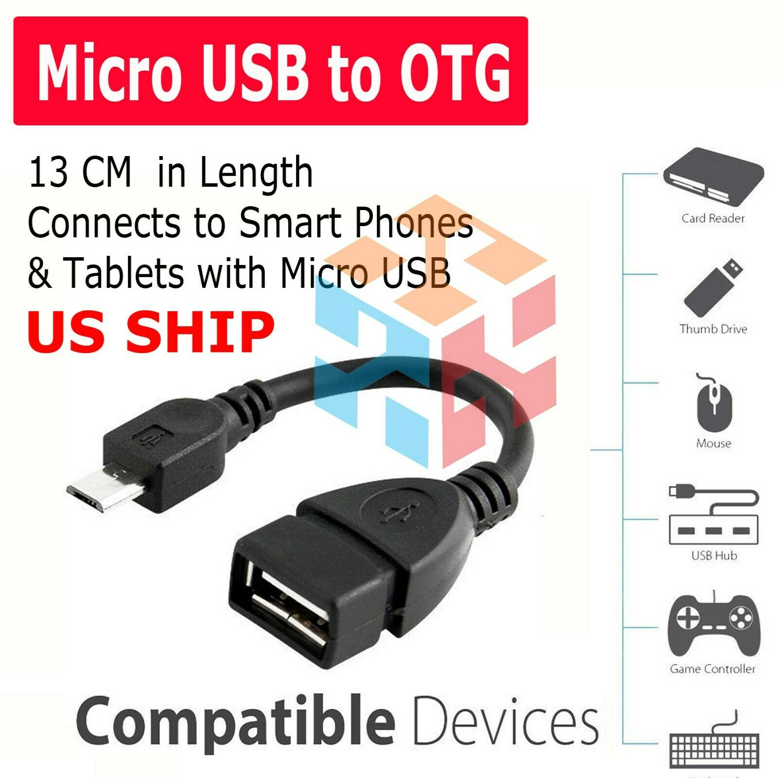 Micro USB Male To USB 2.0 Female OTG Cable Adapter For Samsu
