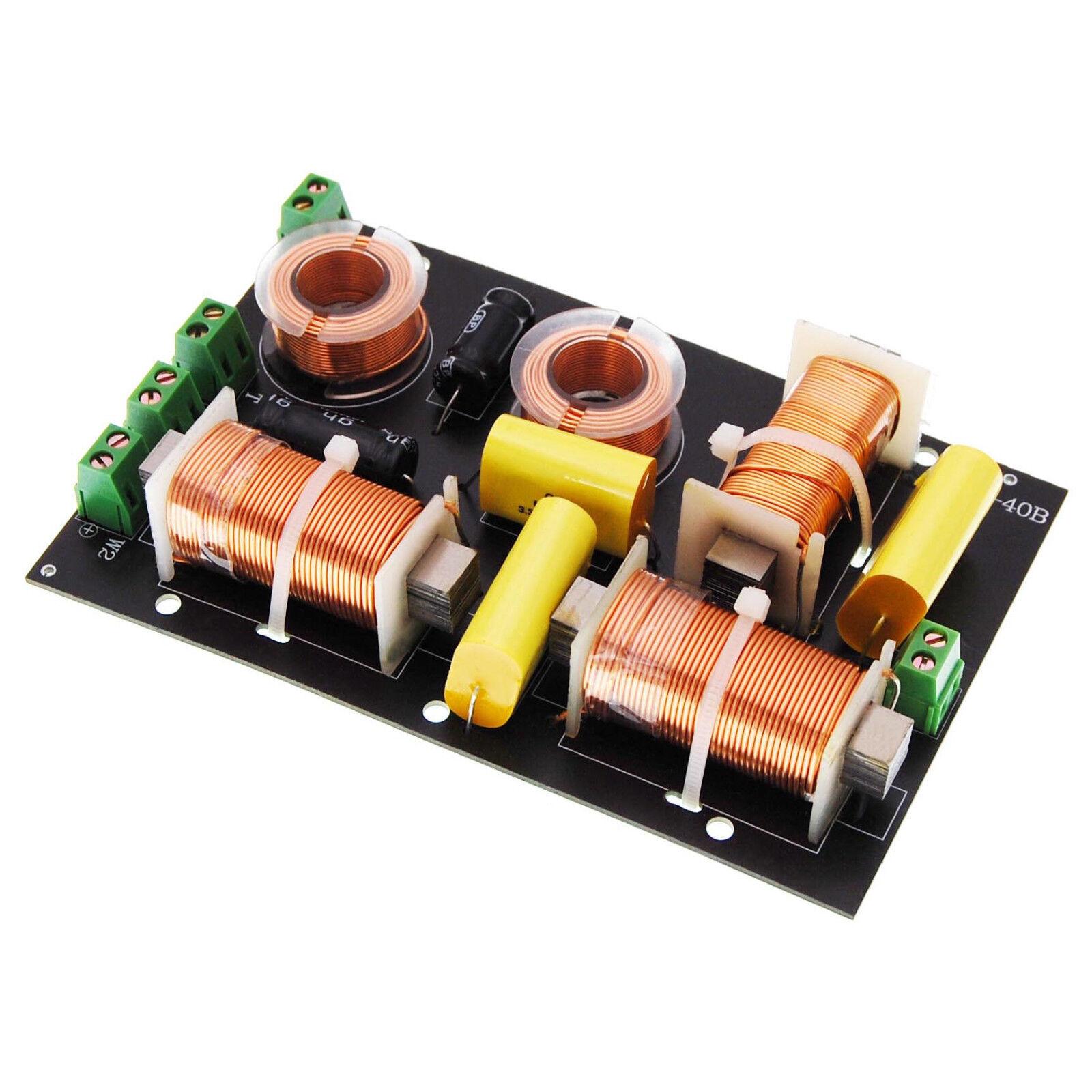 Frequenzweiche Pro 3-Wege, 300 Watt, 2 Subwoofer-Ausgänge, Lautsprecher Weiche