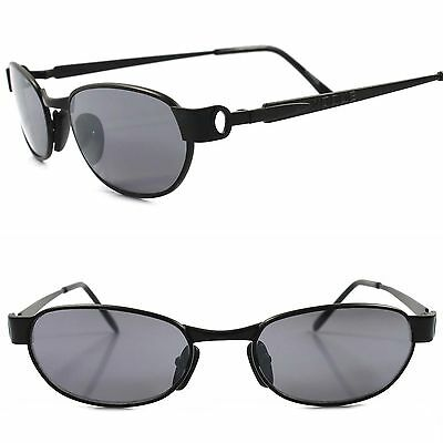 Classic Vintage Retro 80s 90s Urban Fashion Mens Black Rectangle Sunglasses