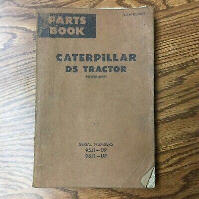 Cat Caterpillar D5 Parts Manual Book Catalog Tractor Bulldozer Guide Sn 95j 96j