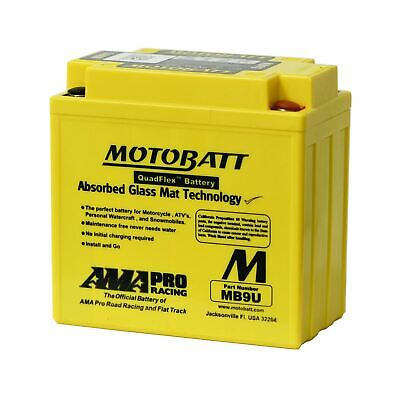 MOTOBATT MB9U AGM GEL MOTORCYCLE BATTERY TRIUMPH BONNEVILLE T120 59 75