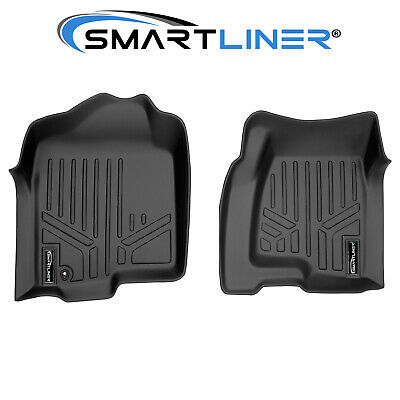 SMARTLINER Custom Fit Floor Mats Liners 1st Row Black For 99-07 Truck / SUV
