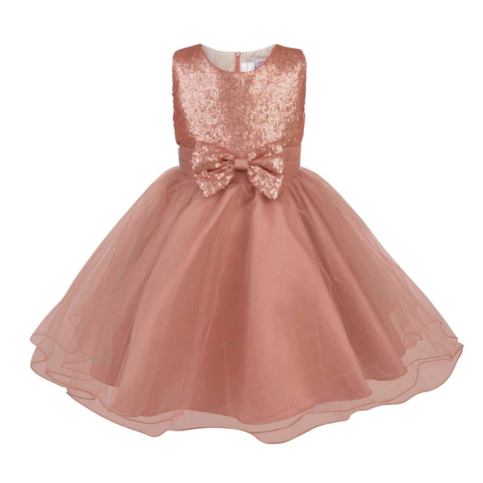84b6f650e40e Premium Flower Girl Boutique 'Gigi' Rose Gold Full Occasion ...