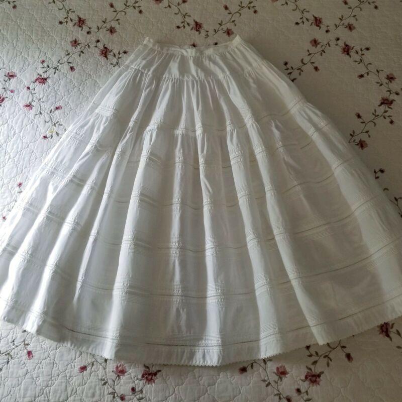 White vintage jfashion Kaneko Isao skirt, Pink House designer, cottagecore LSF ♡
