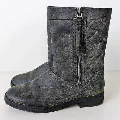 Rocket Dog Womens Bootie Boots Side Zipper Mid-Calf High Shoes Gray Size 7.5 Rocket Dog Womens Zipper