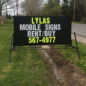 Mobile sign rental/sales