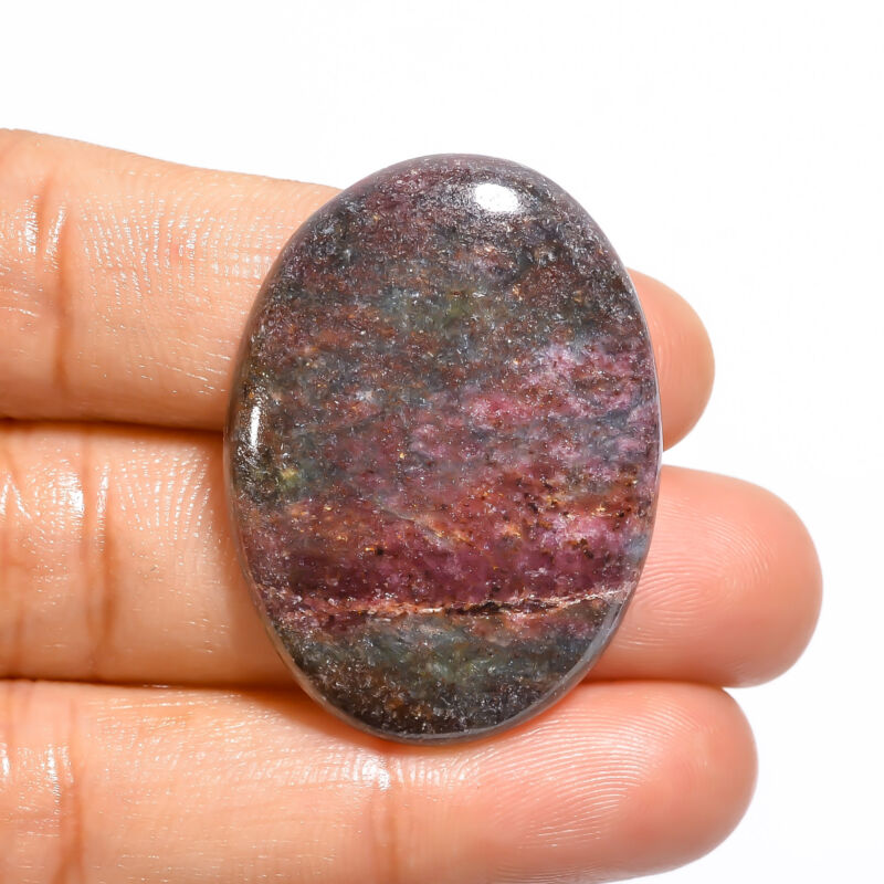 AAA 100% Natural Ruby Kyanite Oval Shape Cabochon Loose Gemstone 51 Ct 36X26X5mm