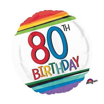 Happy 80th Birthday Balloons (Rainbow Happy Birthday 80th 17