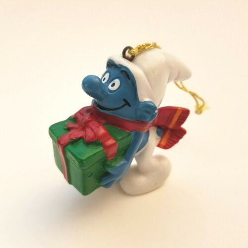 Vintage 1981 SMURF Schleich Peyo Made in Portugal with Gift Christmas Ornament