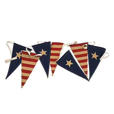 Fourth Of July Banner (Patriotic Holiday Party American Flags Pennant Banner Fourth Of July)