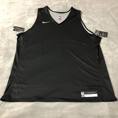 Nike NBA Player Issue Reversible Practice Jersey Black 56 XXL 2XL 933573-010 NEW