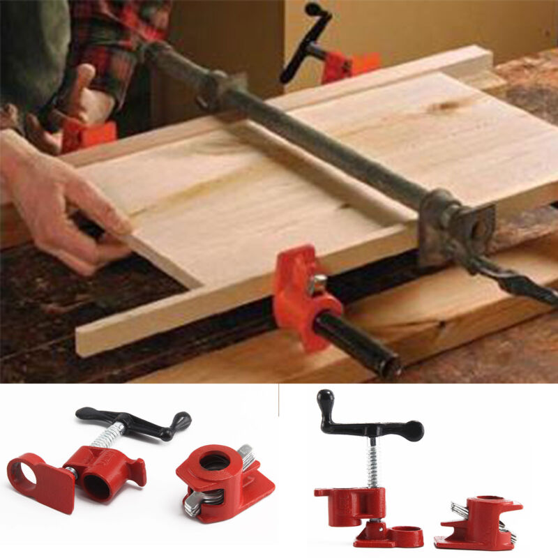 3//4/'/' Heavy Duty Wood Gluing Pipe Clamp Quick Release Woodworking Tool Set