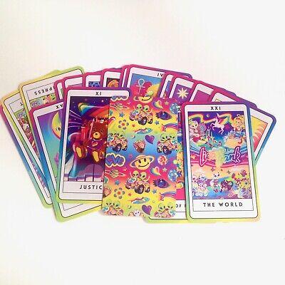 Set of 22 Major Arcana Unicorn and Rainbow Lisa Frank Design Tarot Cards](Unicorn And Rainbows)