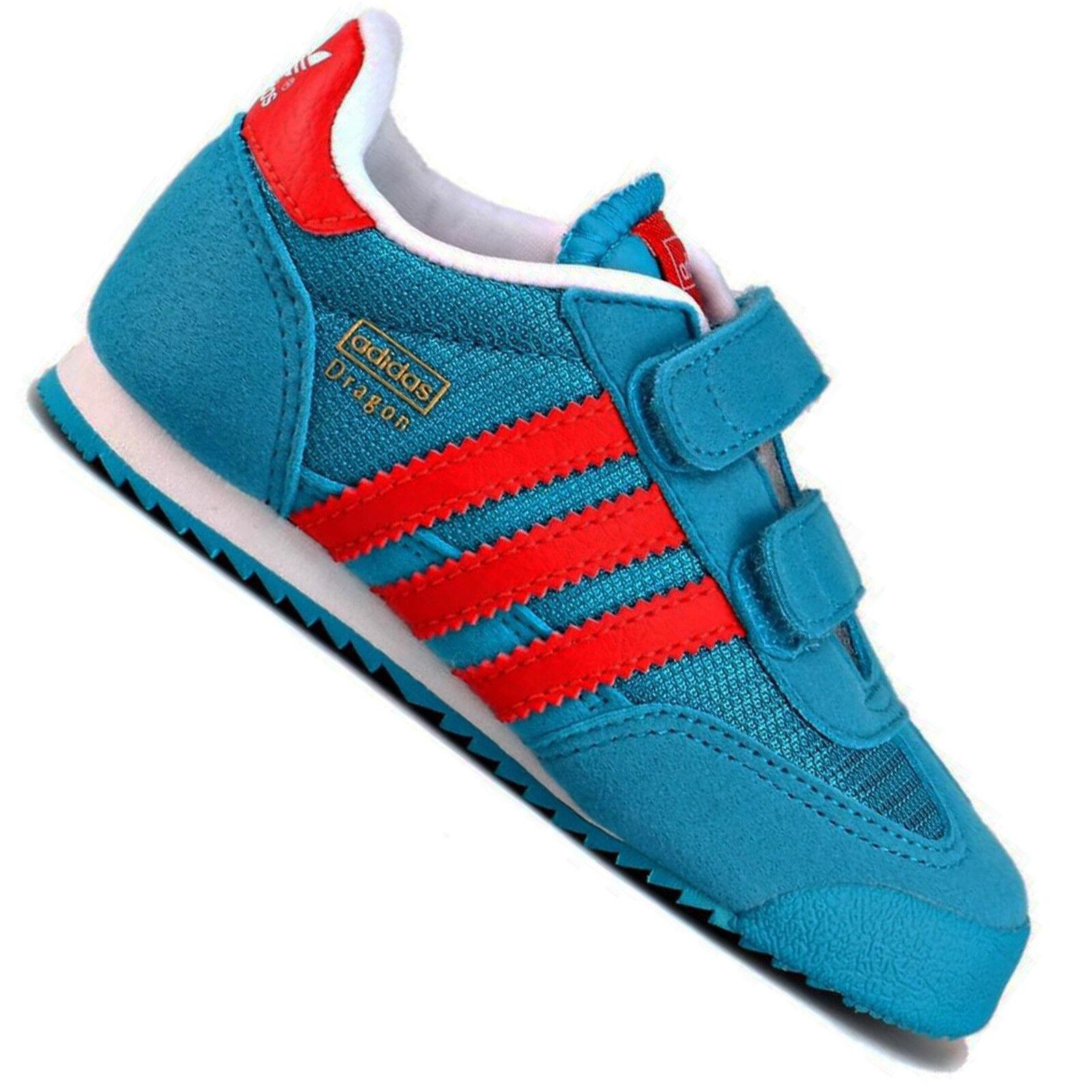adidas Originals Dragon Baby Kinder Lauflernschuhe Sneaker Aqua Blau Rot 19