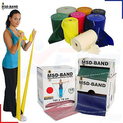 MSD Band Exercise Resistance Fitness Pilates Yoga Rubber Cross Physio NHS Rehab