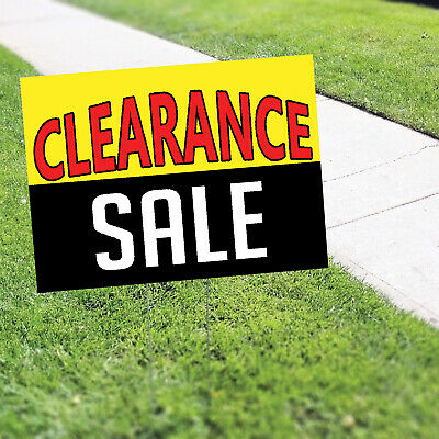 Clearance Sale Half Price Discount Winding Up Indoor Outdoor Coroplast Yard Sign