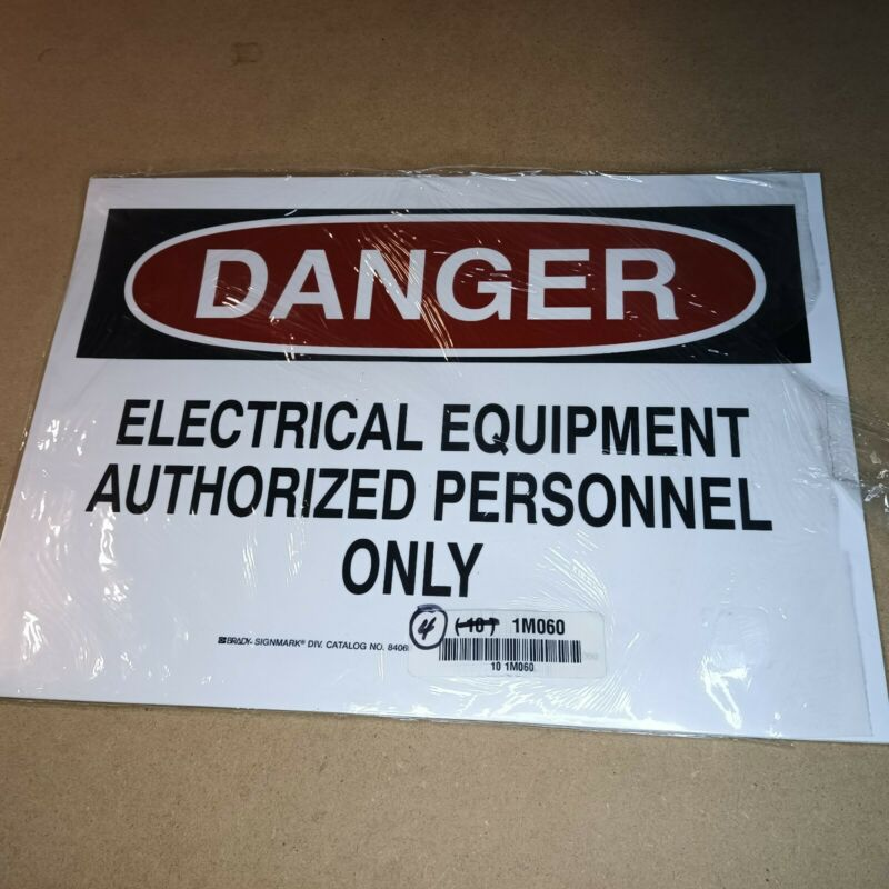 """(1) 10x14 """"DANGER ELECTRICAL EQUIPMENT"""" Adhesive Vinyl Sign Decal"""
