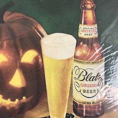 Halloween Coloring Print Pages (Blatz Pilsener Beer Magazine Print Ad Vintage Halloween Beverage Full Page)