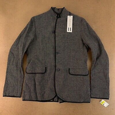Hannes Roether Men's Size Medium Gray Cotton/Linen Blend Jacket NWT