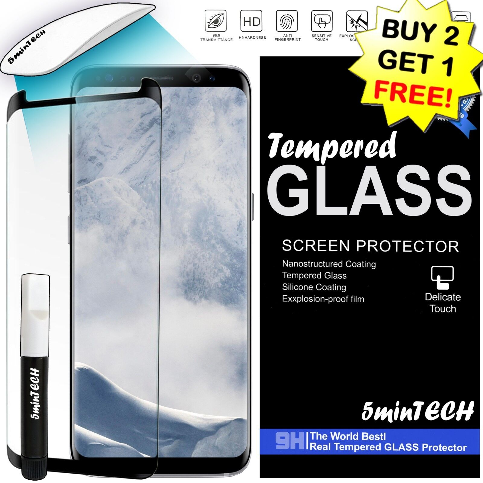 ✔ Tempered Glass Screen Protector HD Premium FOR SAMSUNG G