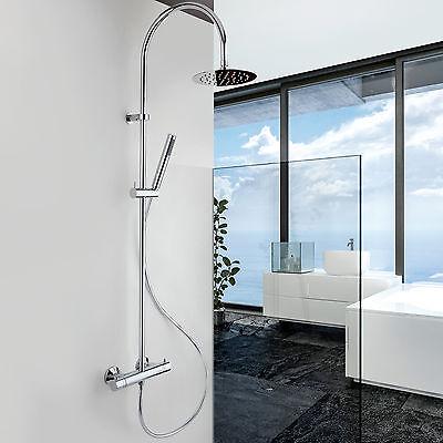 JACUZZI colonna doccia miscelatore termostatico soffione rotondo 20cm e doccetta