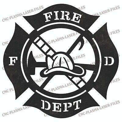 Fireman Dxf Sign For Plasma Laser Waterjet Router Plotter Cut Vector Cnc File