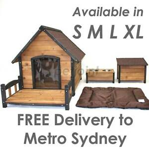 Outdoor Kennel Large Big Pet Dog House Wooden Home Timber 3