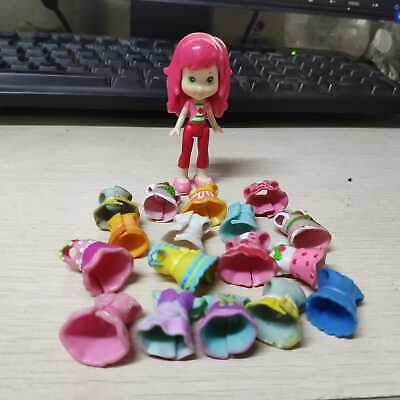 Rare Strawberry Shortcake 2008 Dolls 3in. Figures Girls with Dress ()