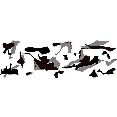 Camouflage Autofolie 50cm x 152cm Luftkanäle Schwarz weiß Grau #1401
