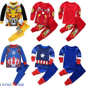 Dessin anim iron man enfants v tements b b gar ons t chemise pantalon ensembles de lingerie - Iron man en dessin anime ...