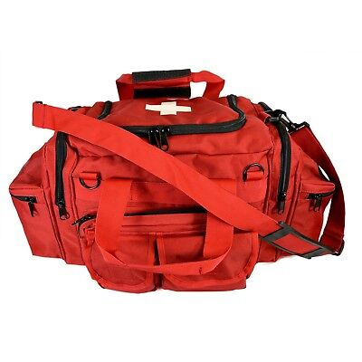 Red Emt Medical Gear Bag Tactical Emergency Trauma Tools Shoulder Bag Ems Medic