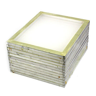 12 Pack Aluminum Silk Screen Printing Press Screens 110 White Mesh 20 X 24