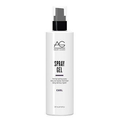 AG Hair Spray Gel Thermal Setting Spray 8 oz / 237 ml flexible hold and shine , used for sale  Shipping to India