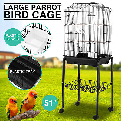 Parrot Bird Cage Cockatiel Lovebird Finch Aviary Pet House Stand