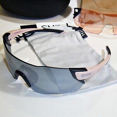 Smith Attack S8R/XB Sunglasses & Kit-Dusty Pink Frame/ChromaPop Platinum Lens  Silver Frame Platinum Mirror Lens