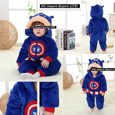 Kapitän Amerika Karnevalskostüme Warm Anzug Kind Boy Kostüm Strampelanzug