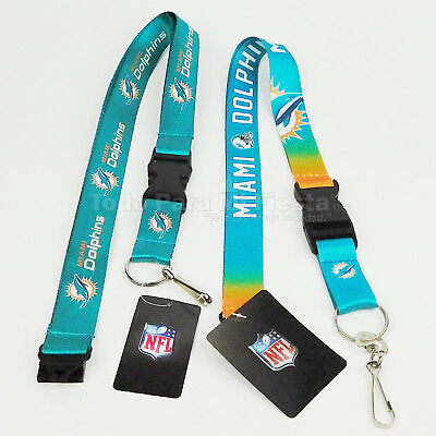 (NFL Miami Dolphins Breakaway Lanyard Keychain Team Color)
