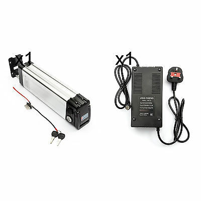 Lithium Silver Fish Battery 48V 15Ah   Charger Electric Bicycle Bike Cycle LIPO