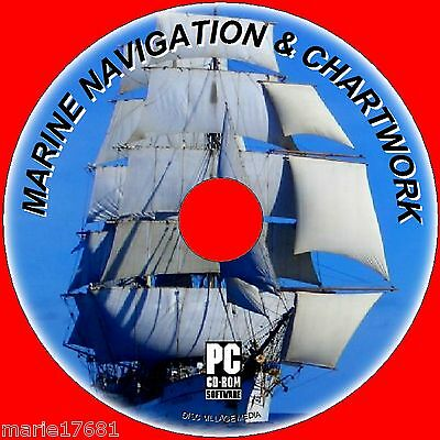 LEARN TO USE MARINE CHARTS AND NAVIGATION MAPS PLOT COURSES TIDES ETC PC CD NEW  Marine Charts