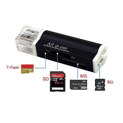 Kartenlesegerät Kartenleser Card Reader Micro SD MMC M2 USB Stick in schwarz online kaufen