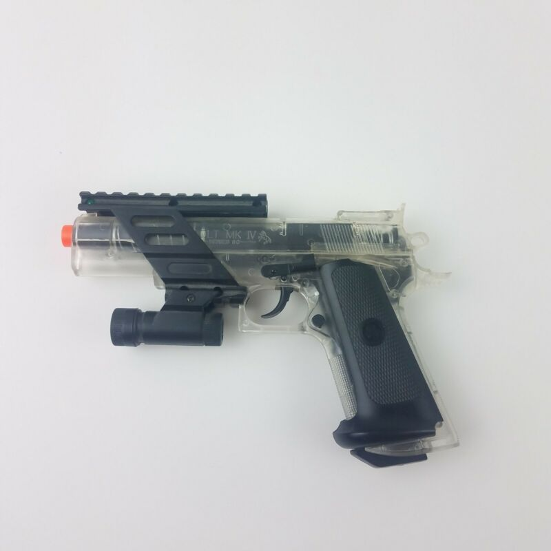Colt MK-IV series 80 Combat Commander Spring Piston Airsoft With Light And Rail