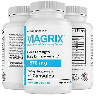 Male Enhancement Pills Bigger Libido Performance Boost Drive Stamina 60ct