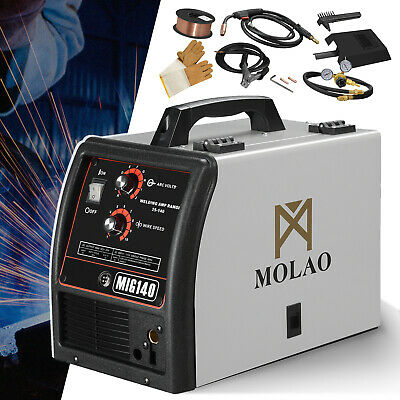 Wire-feed Mig 140 Welder 115v 25-140a Welding Machine W Free Gloves Mask Brush