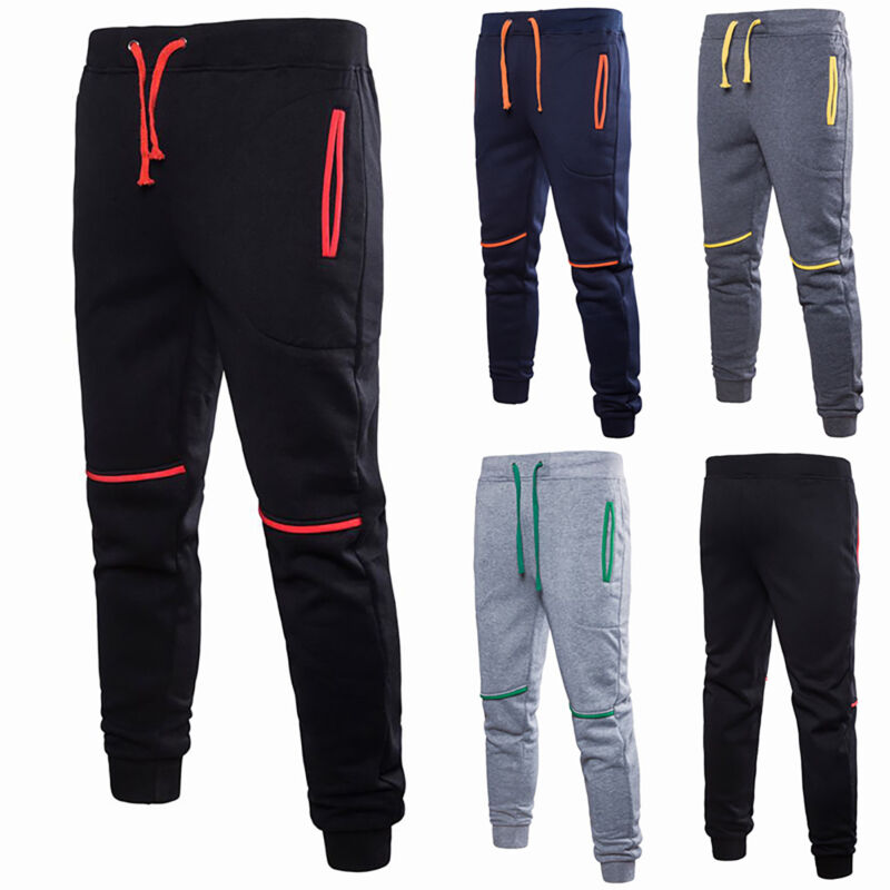 Herren Hosen Joggers Gym Sports Jogginghose Sporthosen Freizeithose Sweathose