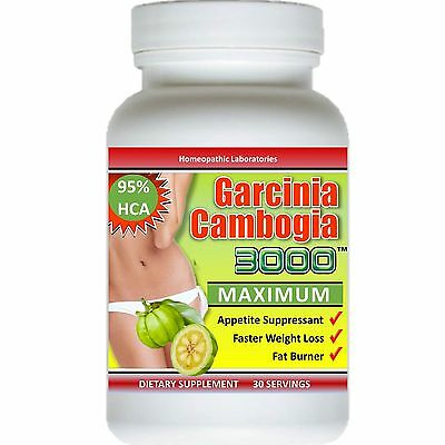 Pure Garcinia Cambogia Extract 3000 Maximum 95  Hca Weight Loss Diet Fat Burner