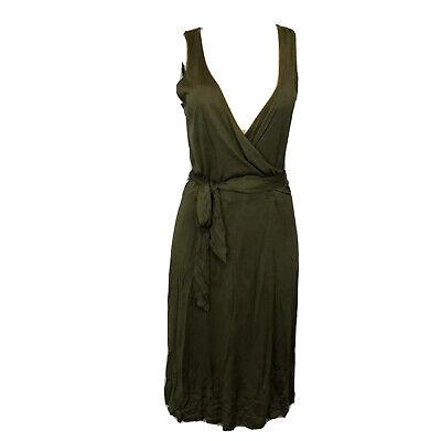 Lauren Ralph Lauren Premiun100% Silk Wrap Dress Women Size M Sleeveless NEW $149