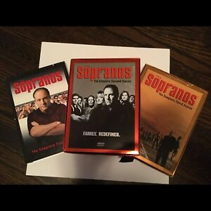 Season 1, 2 and 3 of The Sopranos TV DVD Series