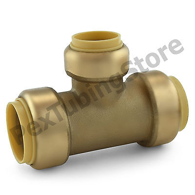10 1 X 1 X 34 Sharkbite Style Push-fit Push To Connect Lf Brass Tees