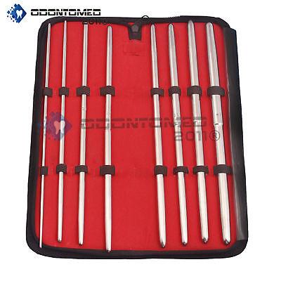 Pratt Uterine Dilator Set 8 Pcs Straight Obgynecology Surgical Instruments